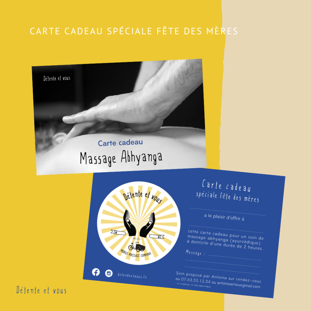 carte cadeau massage